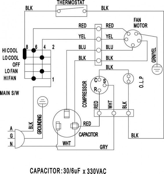نقشه سیم کشی داکت اسپلیت